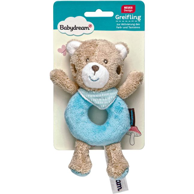Babydream Ring-Greifling Teddy türkis