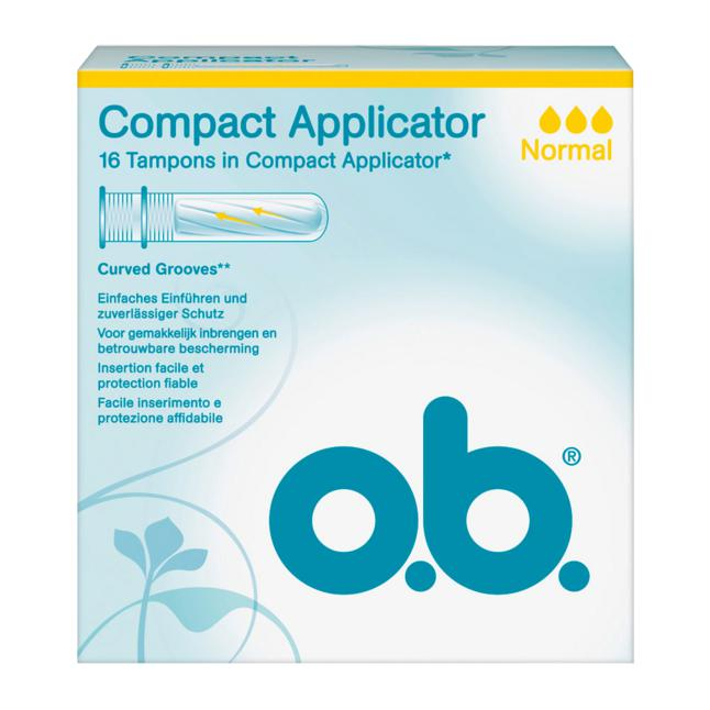 o.b. Tampons Compact Applicator normal