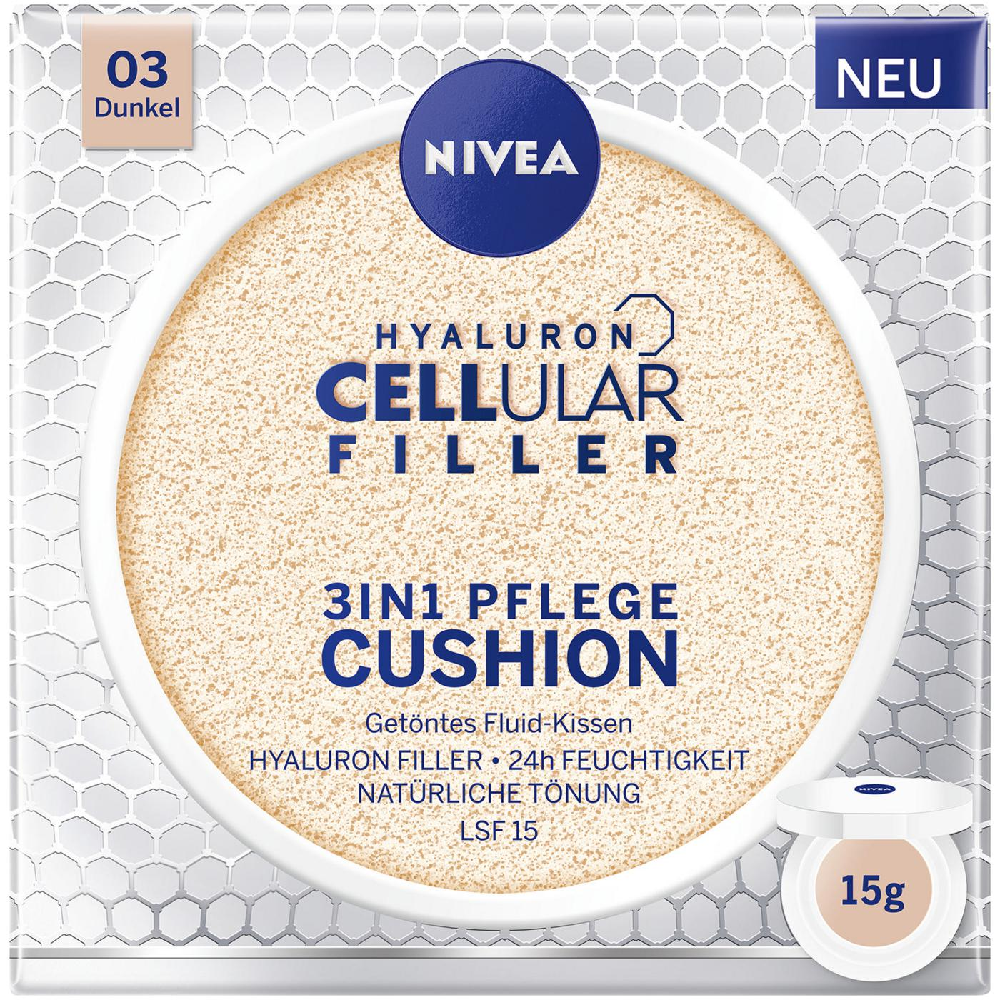 Nivea Hyaluron Cellular Filler 3in1 Pflege Cushion Getontes Fluid