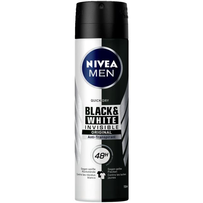 NIVEA MEN Anti-Transpirant Black & White invisibe orig 1.03 EUR/100 ml