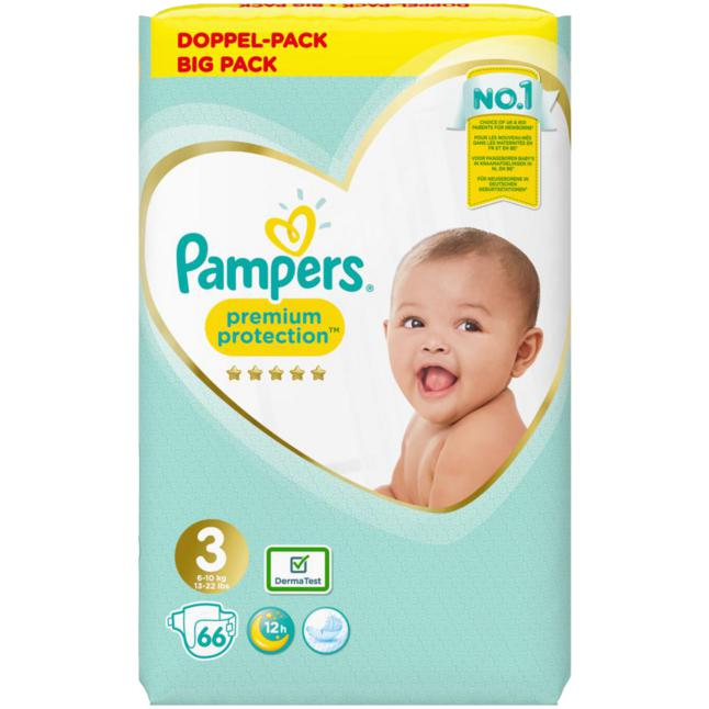 Pampers · Pampers Windeln Premium Protection Gr.3 Midi 5-9kg Jumbo Pack 66 Stück