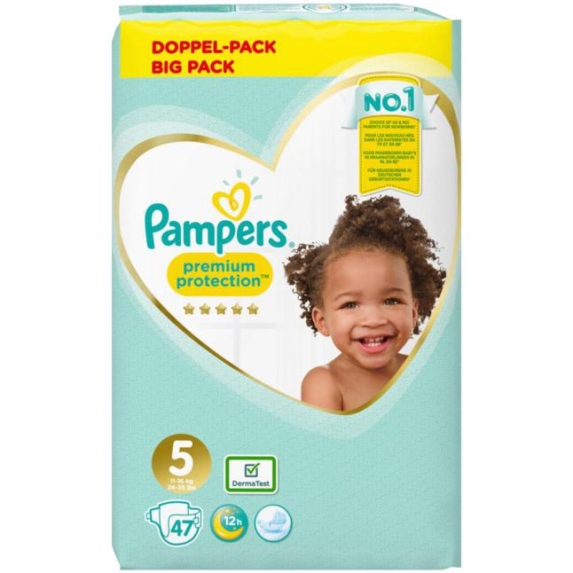 Pampers · Pampers Windeln Premium Protection Jumbo Pack, Größe 5 Junior