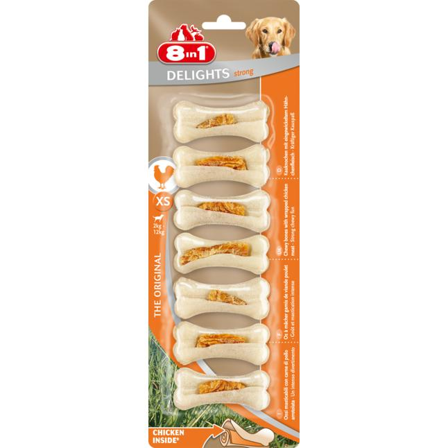 8in1 Delights Strong Kauknochen XS 3.56 EUR/100 g
