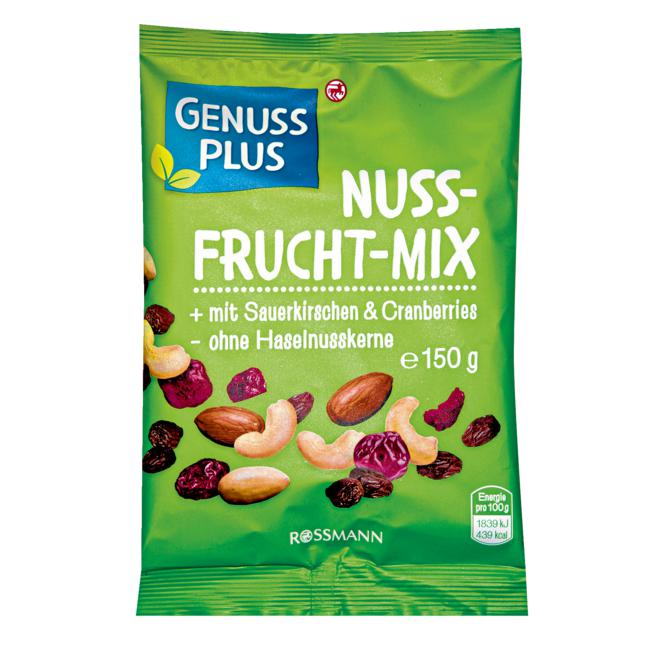 GENUSS PLUS Nuss-Frucht-Mix 1.19 EUR/100 g