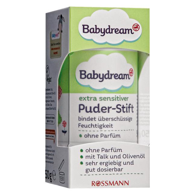 Babydream · Babydream extra sensitiver Puder-Stift 5.98 EUR/100 g