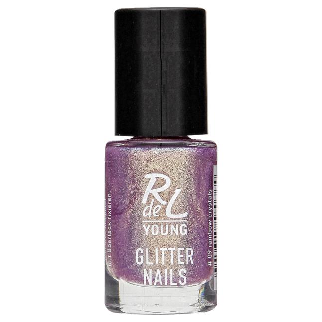 RdeL Young Glitter Nail 09 rainbow crystals