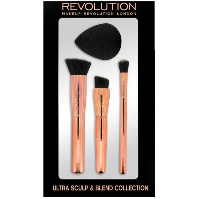 Makeup Revolution Ultra Sculpt & Blend Collection Pinsel- & Schwammset