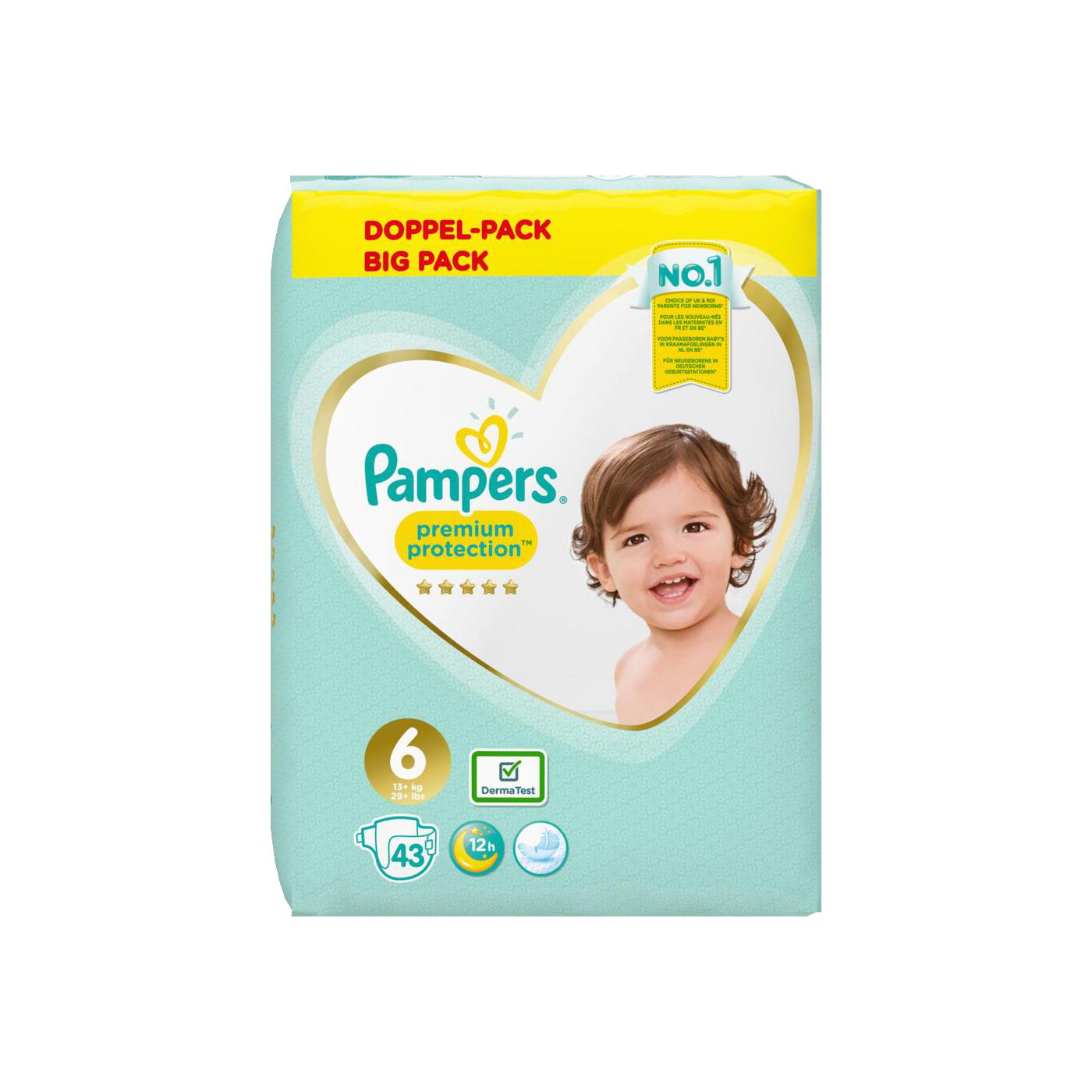 pampers premium protection windeln doppel pack gr 6 13 kg online g nstig kaufen. Black Bedroom Furniture Sets. Home Design Ideas