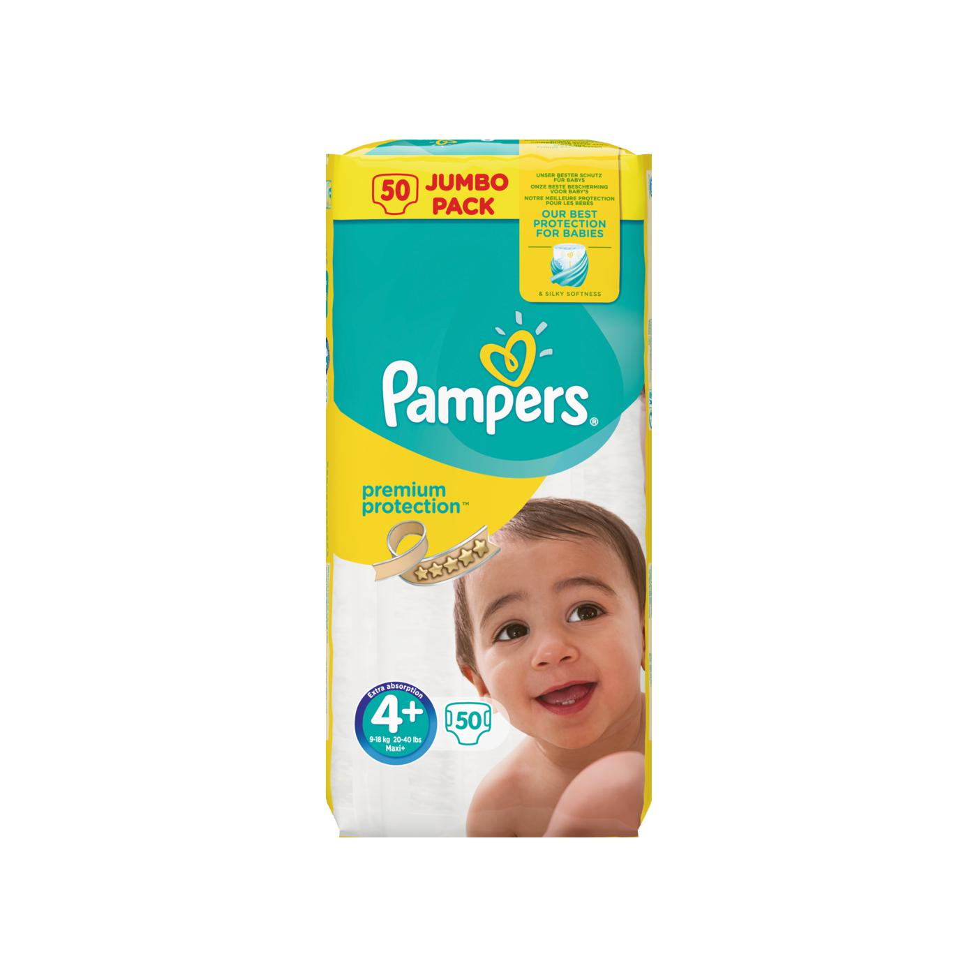 pampers windeln premium protection gr 4 9 18kg jumbo pack online g nstig kaufen. Black Bedroom Furniture Sets. Home Design Ideas