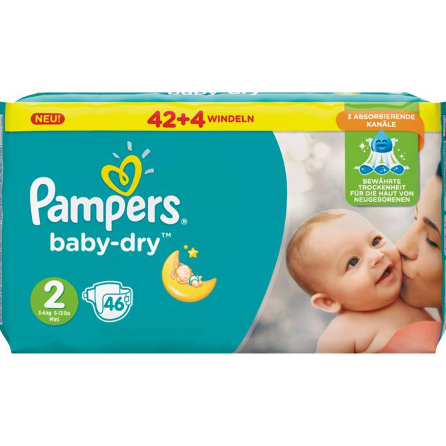 Pampers Windeln baby-dry Gr. 2 (3-6kg)