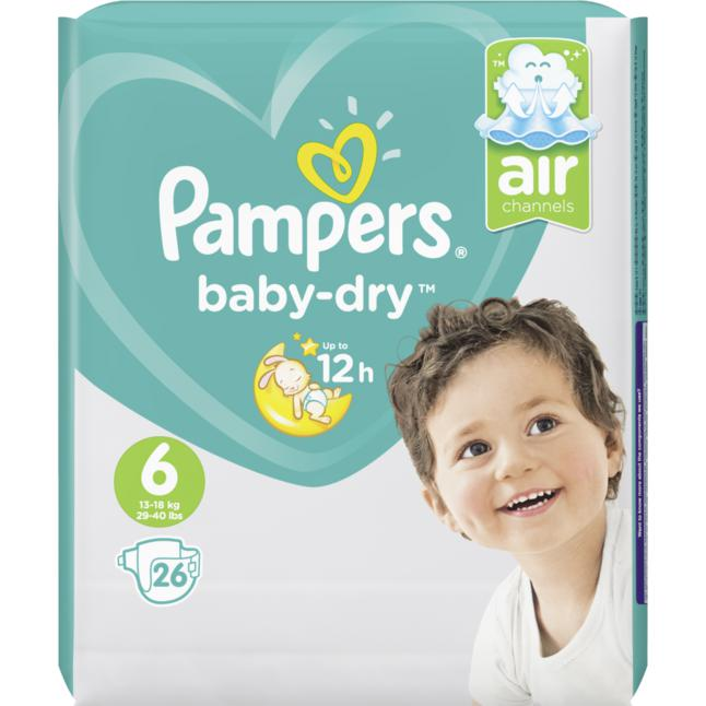 Pampers · Pampers Baby Dry Gr. 6 Extra Large 15+ Sparpack 26 Stück