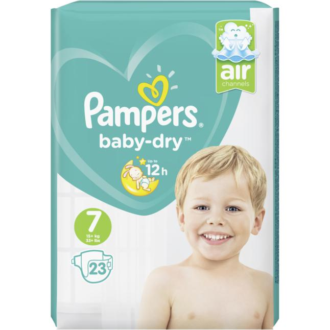 Pampers Windeln baby-dry Gr. 7 (ab 15kg)