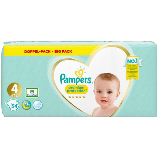 Pampers · Pampers Windeln Premium Protection Gr.4 Maxi 8-16kg Jumbo Pack 54 Stück