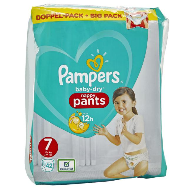 Pampers · Pampers Baby Dry Pants Gr. 7 (17+ kg) Doppel-Pack